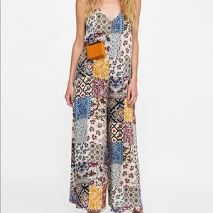 Zara Pants - Zara Satin Pattern Jumpsuit
